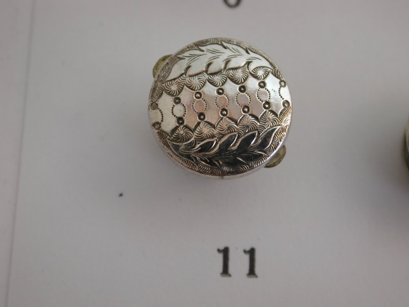 A-Choice-of-Antique-Victorian-Pretty-Silver-Fronted-Single-Studs-Lapel-Pins