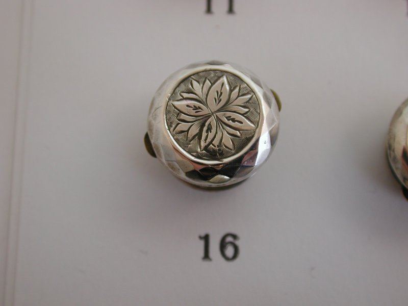 A-Selection-of-Lovely-Antique-Victorian-Silver-Fronted-Single-Studs-Lapel-Pins